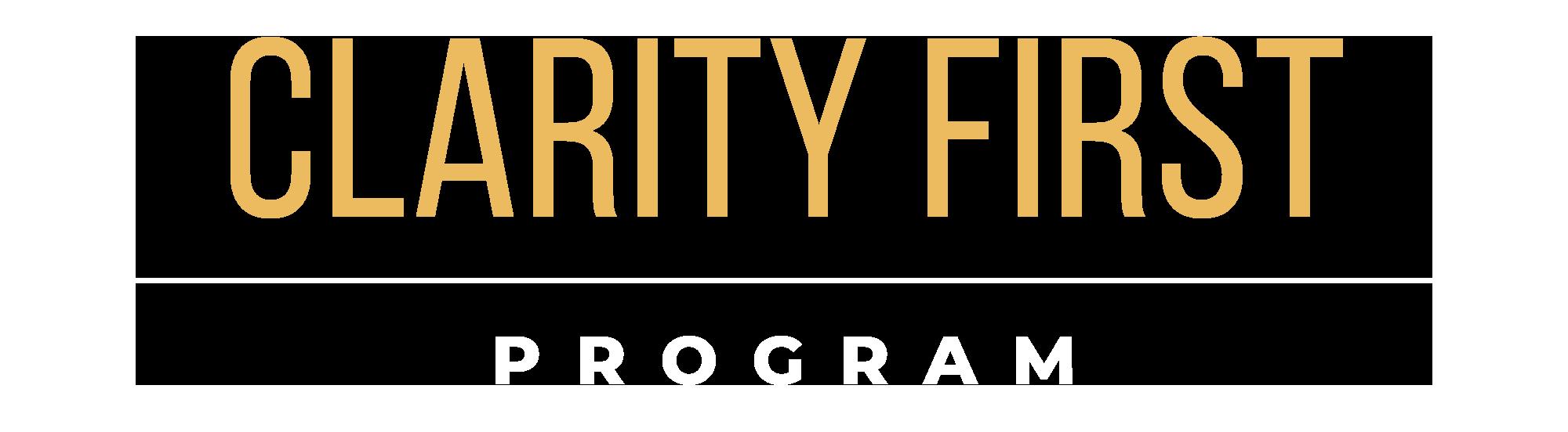 Learn | Clarity First Program